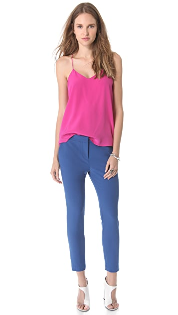 Tibi Anson Stretch Ankle Pants