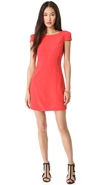 Tibi Cap Sleeve Open Back Dress