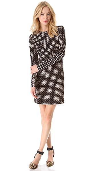 Tibi Eriko Eyelet Long Sleeve Dress