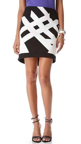 Tibi Transit Yoked Skirt