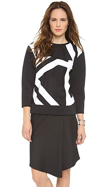 Tibi Transit Neoprene Sweatshirt
