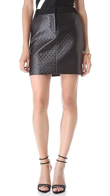 Tibi Embossed Diamond Trouser Skirt