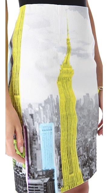 Tibi Empire Denim Pencil Skirt