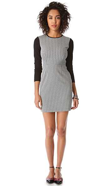 Tibi Jazz Stripe Combo Dress