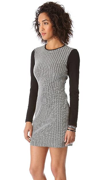 Tibi Jazz Stripe Combo Dress