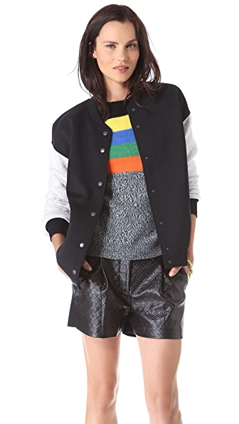 Tibi Oversized Quilted Bomber Jacket