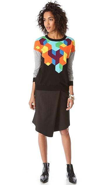 Tibi Sharkskin Skirt