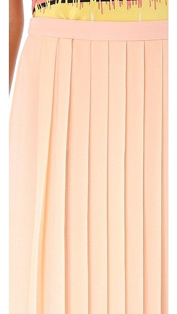 Tibi Pleated Maxi Skirt