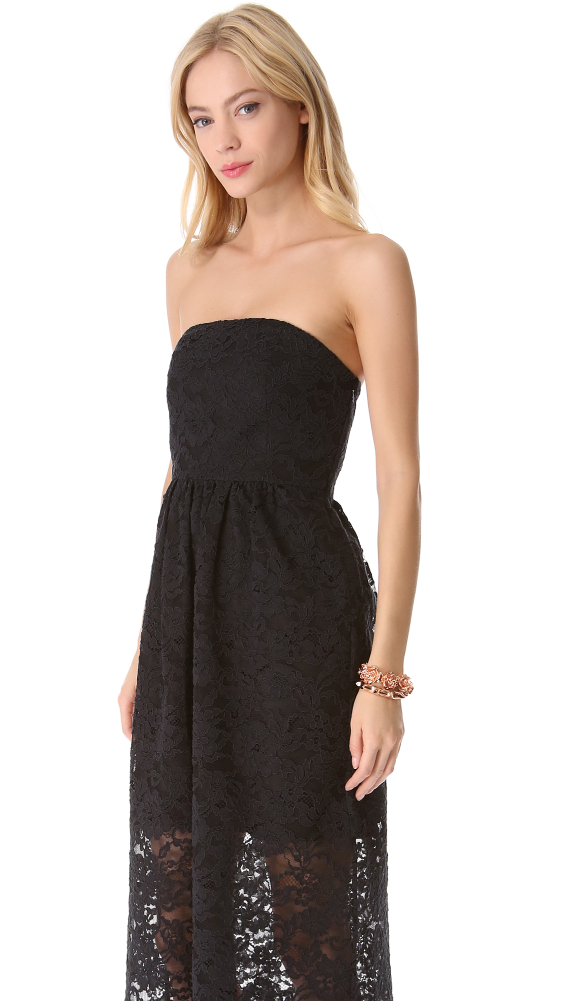 Tibi Strapless Lace Dress  SHOPBOP