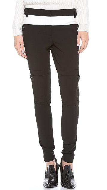 Tibi Colorblock Paneled Pants