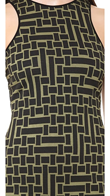 Tibi Cut in Square Knit Dress