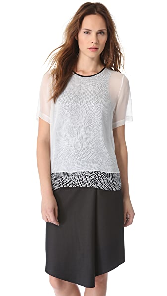 Tibi Double Layer Tee