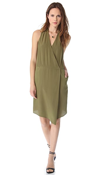 Tibi Halter Draped Dress