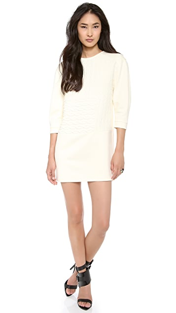 Tibi Sculpted Patchwork Dress