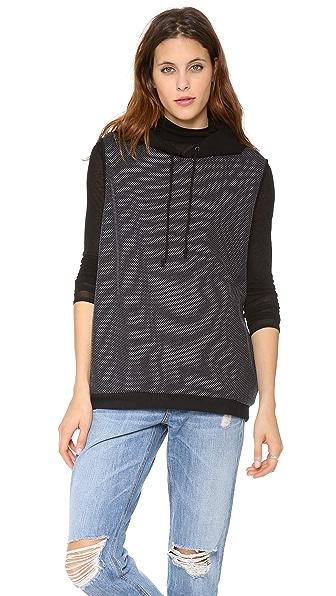 Tibi Hooded Sleeveless Sweatshirt