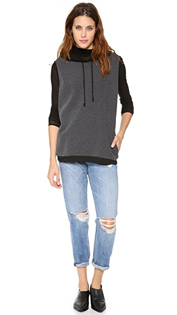 Tibi Hooded Sleeveless Sweatshirt