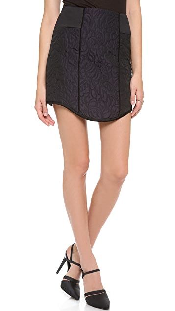 Tibi Paneled Quilted Skirt