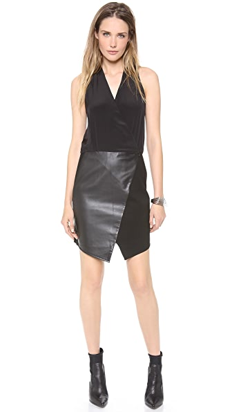 Tibi Asymmetrical Wrap Dress