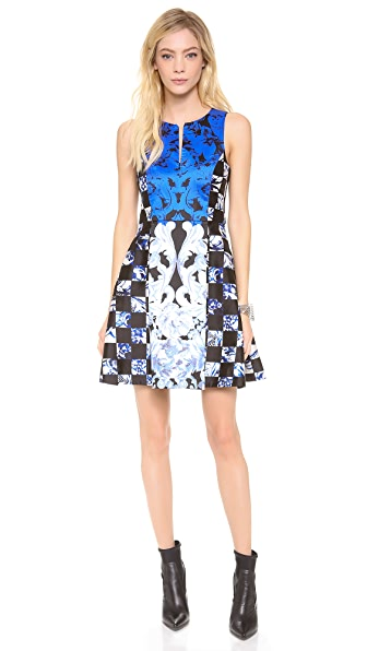 Tibi Rococo Check Sleeveless Dress