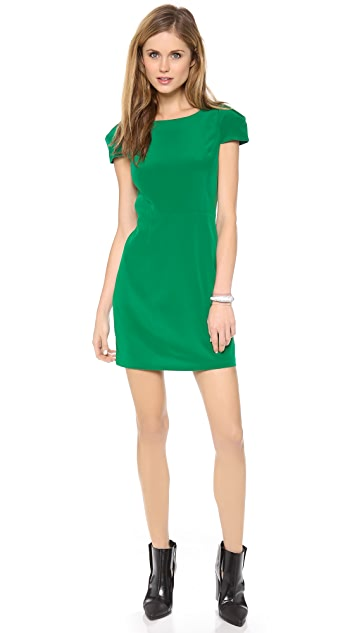 Tibi Cap Sleeve Dress