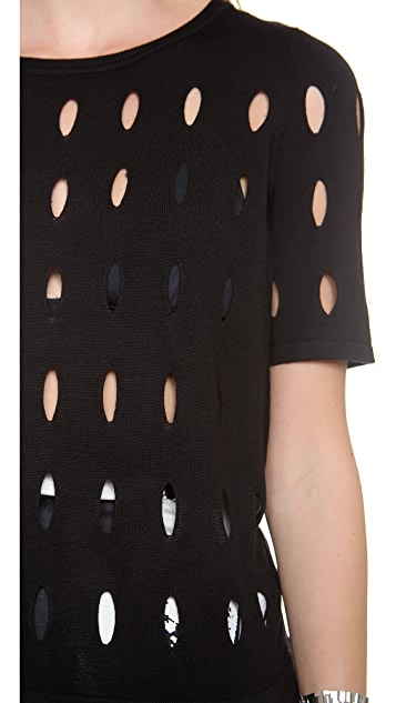 Tibi All over Hole Pullover