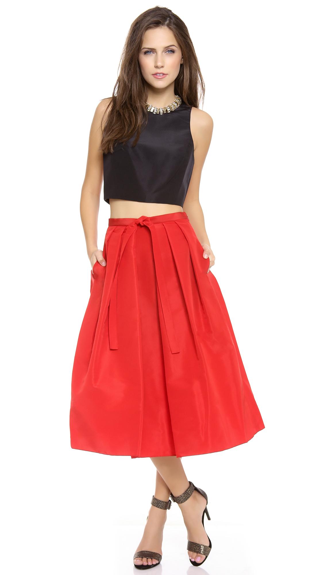 Tibi Faille Skirt | SHOPBOP
