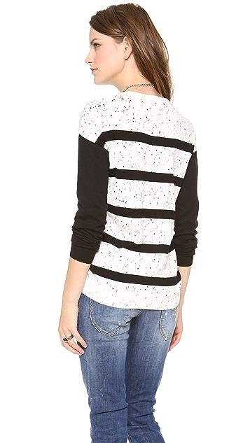 Tibi Striped Easy Pullover