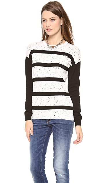 Tibi Striped Easy Pullover