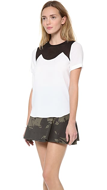 Tibi Short Sleeve Top