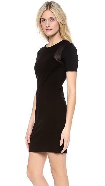 Tibi Bandage Dress with Mesh Insert