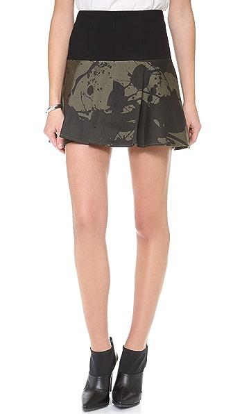 Tibi Yoked Skirt