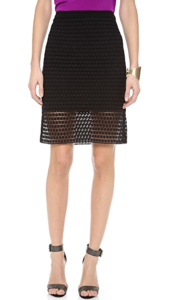 Tibi Lace Pencil Skirt