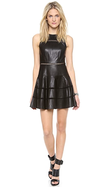 Tibi Aria Leather Dress