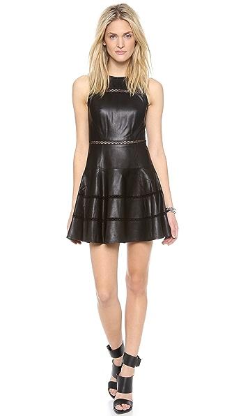 Tibi Aria Leather Dress