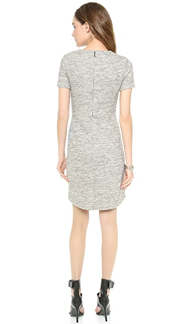 Tibi Spring Tweed Gathered Dress