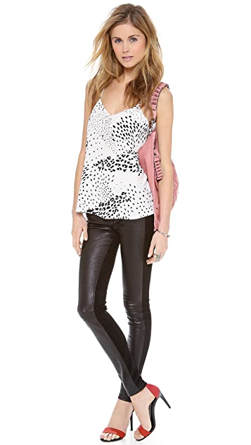 Tibi Leopard Ditzy Camisole