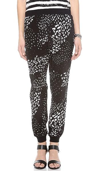 Tibi Leopard Ditzy Jogging Pants