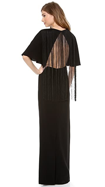 Tibi Long Fringe Dress