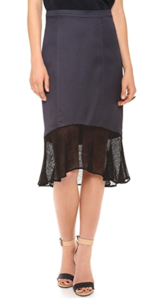 Tibi Skirt with Mesh