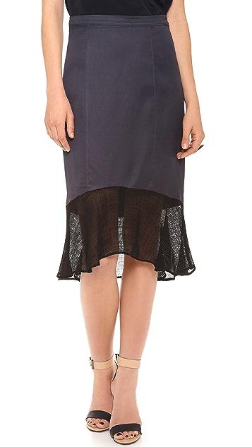 Tibi Skirt with Mesh