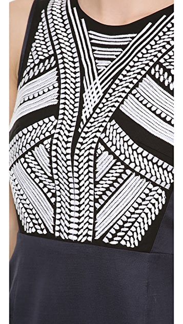 Tibi Embroidered Dress