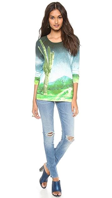 Tibi Printed Raglan Sweater