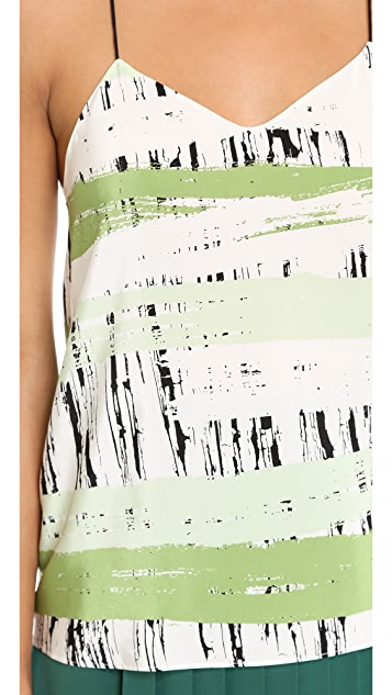 Tibi Asphalt Stripe Print Cami