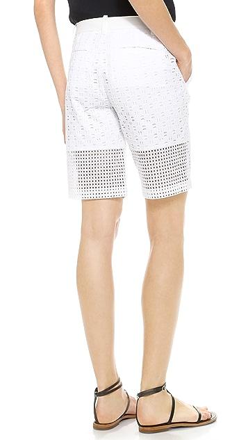 Tibi Kat Eyelet Shorts
