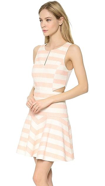 Tibi Blanket Stripe Flirty Dress