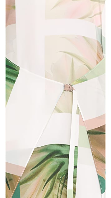 Tibi Sleeveless Fiore di Cactus Printed Dress