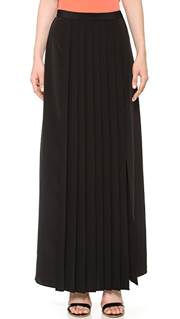 Tibi Pleated Slit Skirt