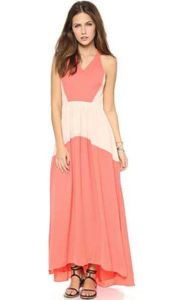 Tibi Colorblock Long Dress