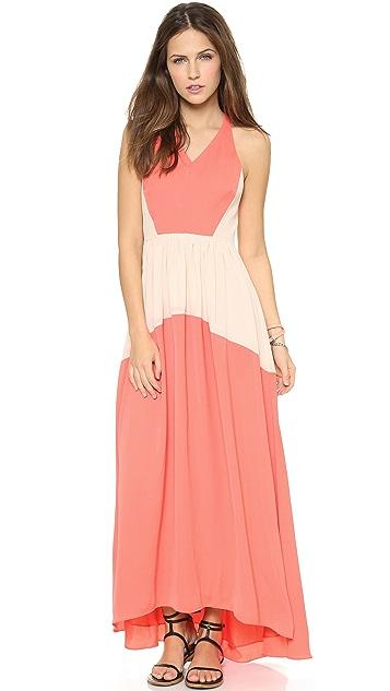 Tibi Colorblock Long Dress