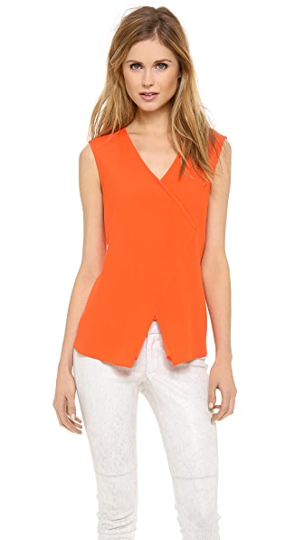 Tibi Asymmetrical Wrap Top